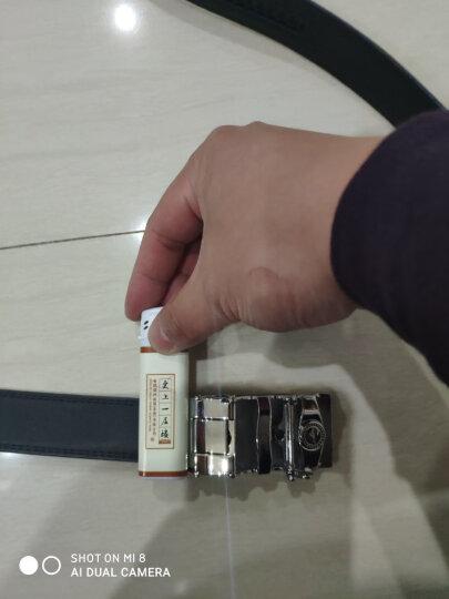 七匹狼男士皮带 商务潮流牛皮中青年腰带自动扣休闲裤带7A01036532黑色(110-120cm) 晒单图