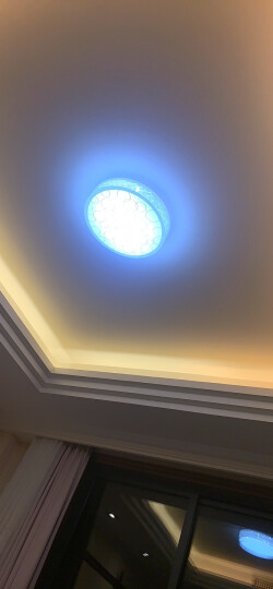 金幻 led吸顶灯卧室灯圆形客厅灯具灯饰温馨个性创意现代简约 【泡泡】双色分控30瓦 直径40cm 晒单图
