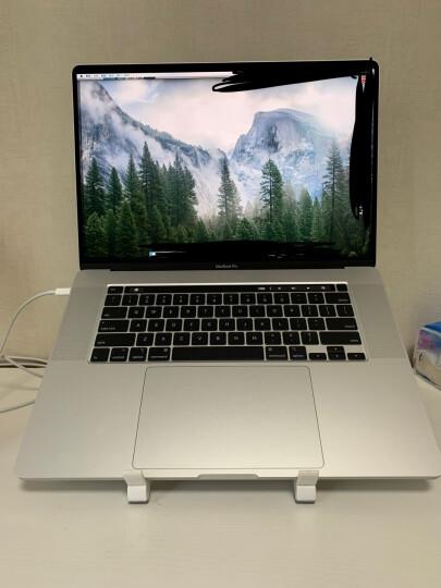 酷奇笔记本支架电脑平板可调节高度苹果支撑散热懒人增高桌面保护颈椎便携折叠升降底座架子小米托架苹果华硕 001S升级版白色(内置手机支架) 晒单图