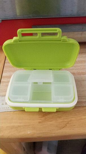亿高 EKOA药盒便携式小药盒药品收纳盒分装盒密封分药盒子苹果绿 晒单图