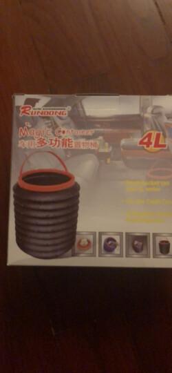 趣行 汽车折叠垃圾桶 可调收缩储物收纳垃圾箱盒 米色 晒单图