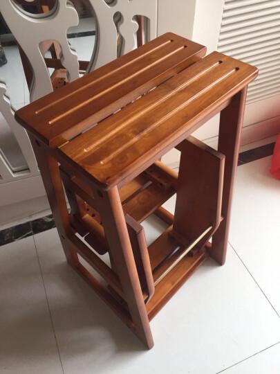 大豪DAHO 越南进口全实木楼梯凳 家用梯子 爬高凳 踏脚凳 阶梯凳 花架 STC-3 晒单图