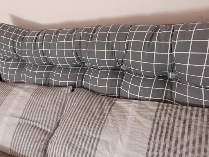 兰序家纺三角床头靠垫沙发靠枕榻榻米单人双人床头软包床上大靠枕床大靠垫 玉米黄 长150宽20高50 晒单图