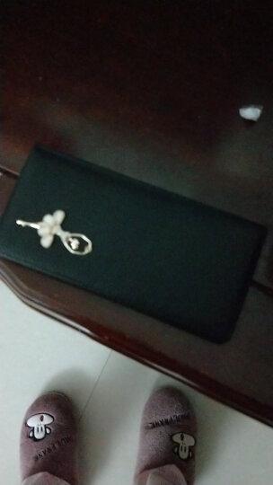 稻草人(MEXICAN)女士钱包甜美镶钻头层牛皮长款女式手拿钱夹MXD30494L-02黑色 晒单图