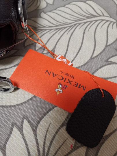 稻草人Mexican牛皮男士手提包竖款男包时尚商务公文包牛皮单肩包斜挎包MZU50390M-04黑色 晒单图