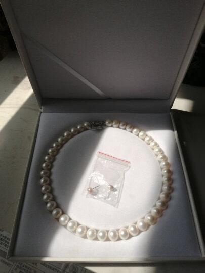 源生珠宝 淡水珍珠项链 女款大颗粒近圆白色珍珠项链 送老婆送妈妈礼物合金项链扣 10-11mm  长度45cm 晒单图