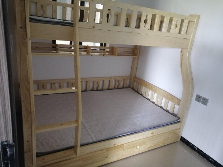 雅霏-儿童床 子母床 双层床 松木实木床 (630个城区包安装 包送货上门) (加厚款原木清漆)上1米下1米2外径2米 晒单图