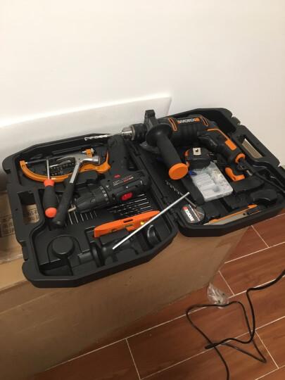 威克士(WORX)家用冲击钻工具箱WX317.3 冲击电钻手电钻电转螺丝刀套装打孔钻孔五金电动工具 晒单图