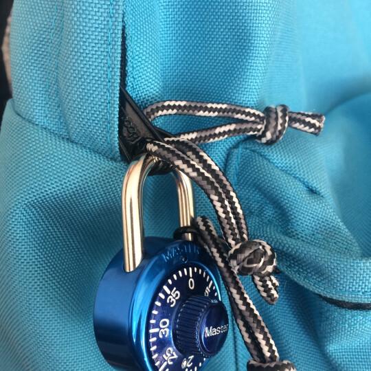 玛斯特(MasterLock)户外旅行箱包密码锁健身房储物柜子学生宿舍大门防盗锁(固定密码) 1530MCND紫色 晒单图