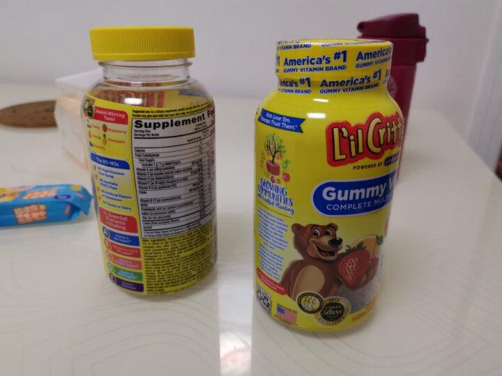小熊糖 L'ilCritters丽贵 儿童营养维生素D3 促进骨骼生长水果味软糖 190粒 2岁及以上 晒单图
