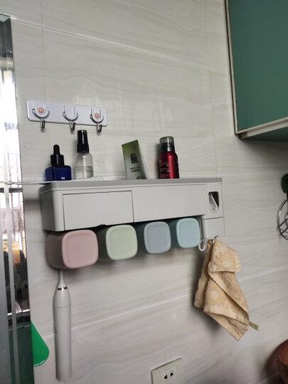 乐艺佳吸盘牙刷架漱口杯免打孔刷牙杯洗漱套装卫生间浴室置物架用品-带挤牙膏器 升级款-四口之家 晒单图