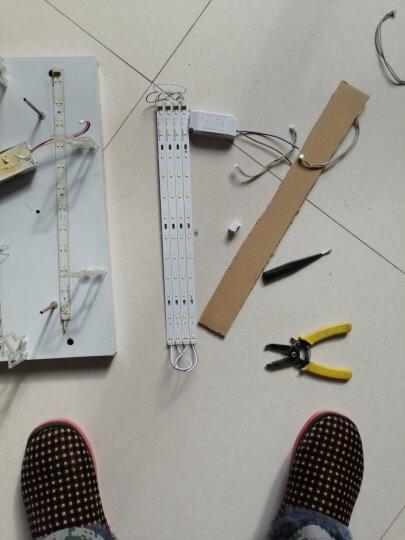 博勒宁LED灯板改造板吸顶灯改装灯板灯条长方形节能H灯管替换全套 24W-41cm长/6W*4条-白光 晒单图