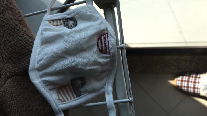 小猪球球 儿童口罩纯棉纱布婴幼儿透气秋冬防雾霾防沙尘粉尘透气加厚双面可洗耳小孩防护宝宝口罩 3条可调节+2条松紧口罩颜色随机(宝宝款) 适合(0-5岁) 晒单图