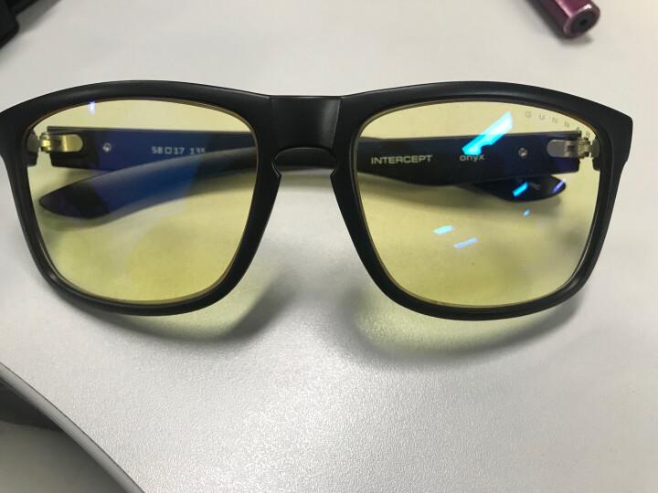 GUNNAR Intercept  玛瑙黑色镜框 琥珀色镜片 防辐射防蓝光眼镜 晒单图