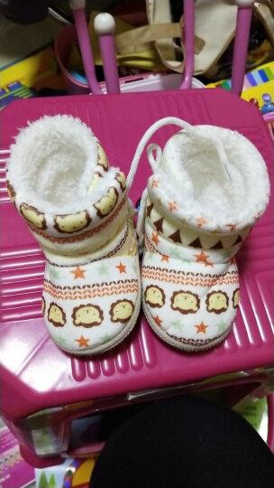 婴儿鞋子春夏新生儿宝宝男女软底冬季棉鞋高帮0-1岁男女宝宝学步鞋新生儿棉靴0-6月 卡通卡其色 适用0-12个月/底长约12厘米 晒单图