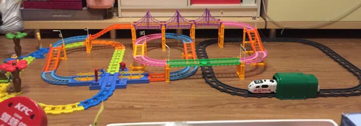 贝恩施儿童玩具男孩女孩玩具多层立交积木轨道电动火车3388组合装 晒单图