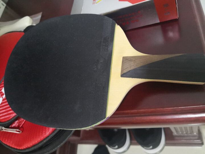 729 乒乓球拍直拍短柄单只 6星六星VERY碳素兵乓球拍 晒单图
