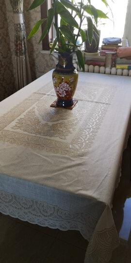 布蓝格 日本进口桌布防水防油防烫PVC免洗餐桌布欧式时尚蕾丝茶几布现代美式轻奢餐桌垫长方形家用台布 1420浅咖 140*200cm 晒单图