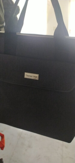 天色 手提公文包 简约通勤文件袋 多功能商务包 大容量差旅包 双层收纳文件袋可定制LOGO 5126竖款黑色 晒单图