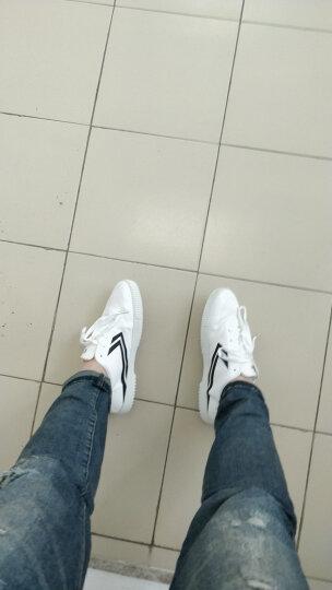 飞跃(Feiyue)男女低帮无缝切帆布鞋潮流休闲鞋时尚百搭小白鞋 8102 白兰 40码 晒单图