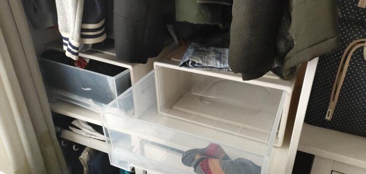 【3件7折】百露叠加收纳柜抽屉式透明内衣收纳箱衣物整理柜子箱宝宝衣柜储物 加厚加大号单个 晒单图
