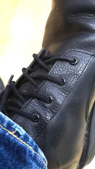 西柏尼雅(XIBONIY) 商务皮鞋打蜡鞋带【2双装】男女圆形棉纱打蜡防水马丁鞋靴鞋带 紫红色 2.5(100cm2双装) 晒单图