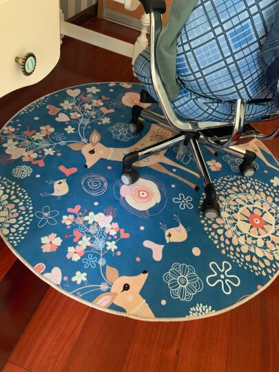 雪之恋地毯圆形卡通儿童房电脑椅吊篮客厅卧室书房玄关地毯 Y-018 100CM圆 晒单图