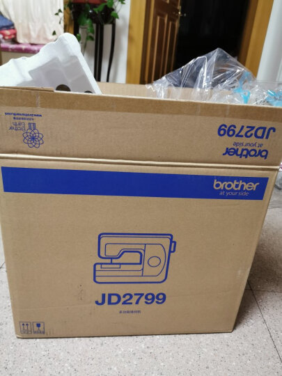 兄弟(brother)GS2700升级款JD2799电动家用缝纫机多功能带锁边吃厚自动穿线新手力荐款 JD2799标配(不含礼品) 晒单图