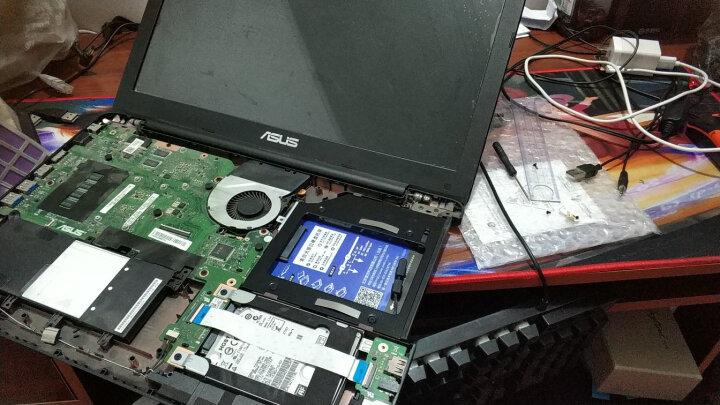 索厉(suoli)9.5mm笔记本光驱位SATA硬盘托架硬盘支架 银色 (适合SSD固态硬盘/免工具/SLA21) 晒单图