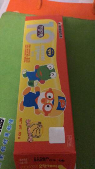 韩国原装 啵乐乐Pororo婴幼儿童牙膏 9无可吞咽无氟苹果味 80g 3-6岁 6-12岁 晒单图