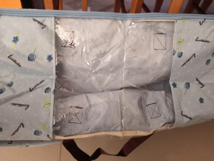 牛津布防潮装被子的袋子行李袋收纳袋棉被袋 装衣服收纳箱盒搬家袋布打包袋 有窗  蓝樱桃 大号  【约58升/60*40*24cm】 晒单图