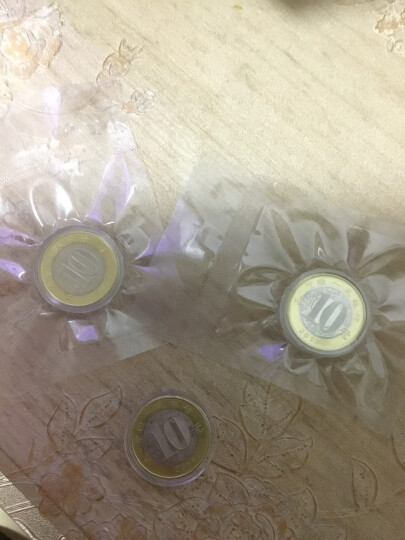 楚天藏品 2017年鸡年纪念币 生肖贺岁币 2017鸡币 10元双色流通币 二鸡硬币 5枚 晒单图