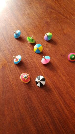 福孩儿宝宝益智彩色小陀螺木制儿童玩具幼儿园3-4-6-9岁孩子智力手动旋转传统玩具男孩女孩生日礼物 9个装 旋转变色小陀螺 晒单图