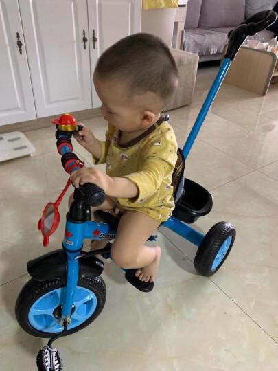 嘟嘟兔儿童三轮车脚踏车宝宝婴幼儿童车小孩三轮车遛溜娃轻便手推车1-2-3-4-5岁 免充气胎蓝色双脚踏带手推杆+安全带 晒单图