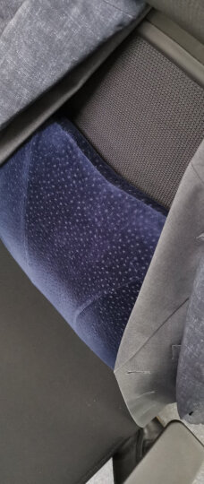 【放松脊椎】佳奥 记忆棉腰靠办公室椅子靠枕护腰座椅靠垫孕妇腰垫靠背汽车腰枕 温感护脊款 藏青 晒单图