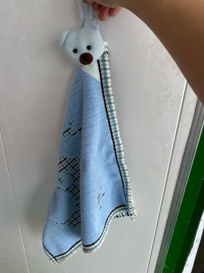 金号 毛巾家纺 A类纯棉强吸水毛巾 洗脸面巾 两条装  兰/紫  95g/条 70*33cm 晒单图