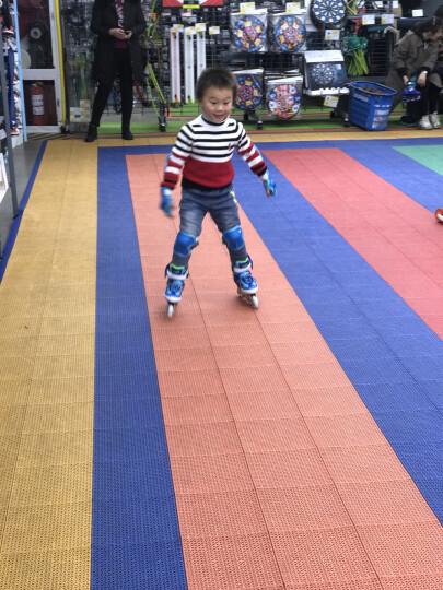 动感(ACTION) 儿童溜冰鞋轮滑鞋旱冰鞋八轮闪光 紫色公主+护具+头盔+单肩包 M/37-40码 晒单图