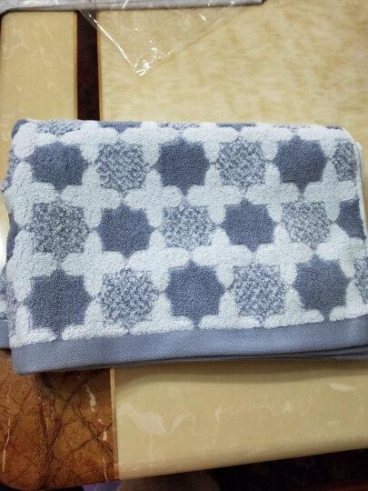 沐凡 枕巾 纯棉加厚 一对2条装柔软透气全棉卡通情侣枕头巾礼品 十字灰色一对 50*75cm 晒单图