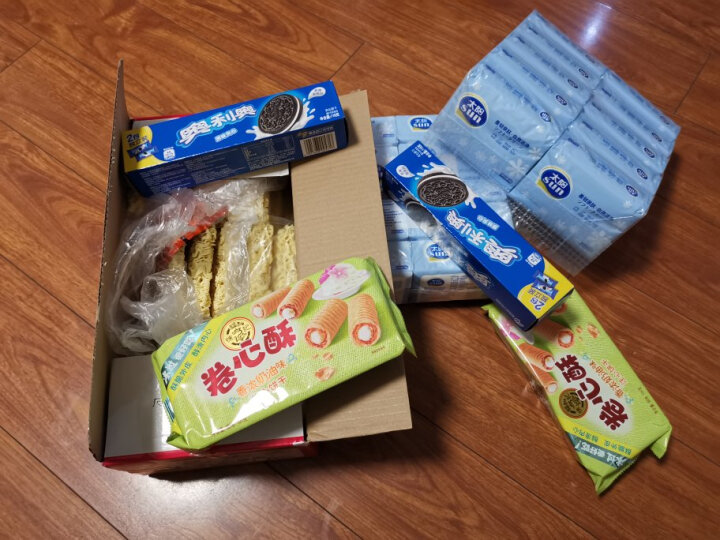 徐福记 卷心酥 夹心饼干 香浓奶油味 营养早餐休闲零食下午茶点心105g 晒单图
