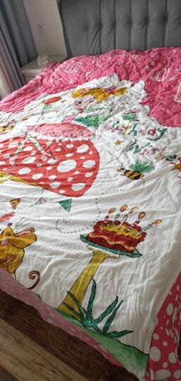 富安娜(FUANNA)家纺 床品套件 四件套纯棉卡通儿童套件全棉床单被套 许愿星1.5米床(203*229cm)蓝 晒单图