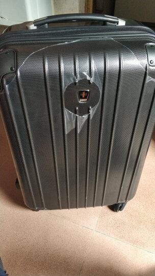 瑞动(SWISSMOBILITY)拉杆箱PC+ABS轻盈大容量旅行箱行李箱24英寸万向轮MT-5555-01T00暗红色 晒单图