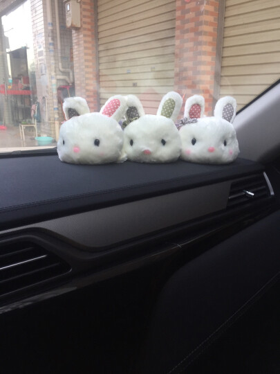 可爱萌萌兔汽车除味吸甲醛卡通竹炭包兔子摆件活性炭公仔趴趴兔 小号趴趴兔三个颜色各一只 晒单图
