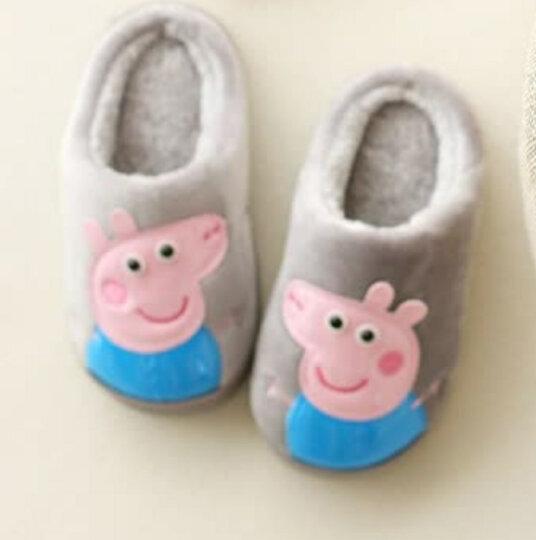 儿童拖鞋男女童保暖包跟家居防滑卡通小孩软底棉鞋 梅红【包跟】 18码【内长16cm】 晒单图
