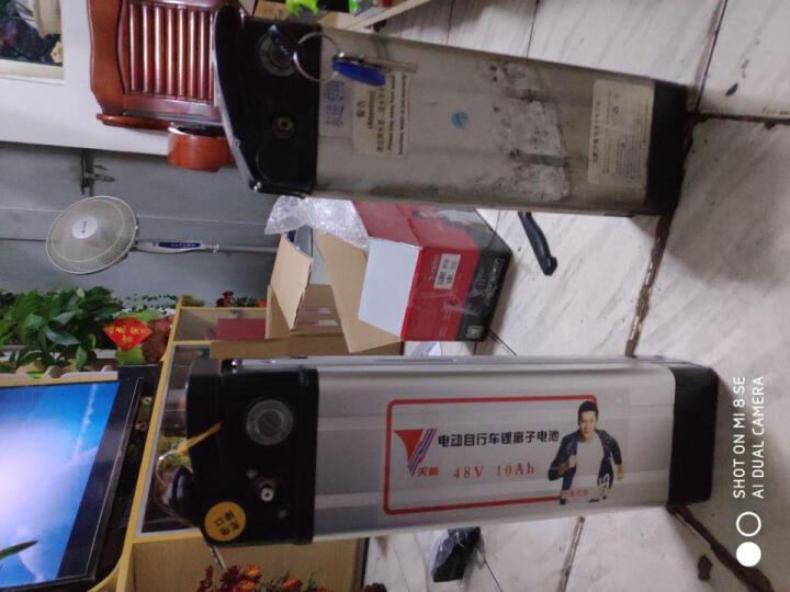 天能电动车锂电池银鱼48V10AH电瓶车电瓶 A款银色高度265mm/莲花头/三竖正品 晒单图