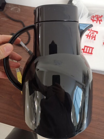 特美刻(TOMIC) 保温壶家用 暖壶水壶热水瓶暖瓶大容量玻璃内胆英伦时尚咖啡壶 黑色1L 晒单图