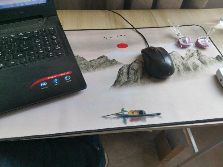 超大号办公电脑桌面鼠标垫加厚可爱女生快捷键键盘excelcad笔记本桌垫office电竞游戏写字ps 个性图-认真 晒单图