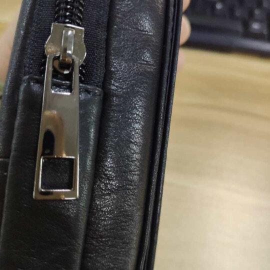 牛船长皮具 头层牛皮男士穿皮带手机腰包 5.5.6.44寸竖款横款装手机的老人皮带腰手机包 棕色05#【适合5.0-5.5寸手机】 晒单图