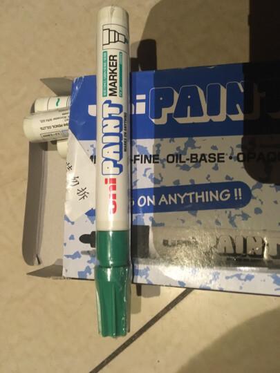 日本三菱(Uni) PX-20 中字油漆笔(绿色) 2.2-2.8mm(12支装)(可用于汽车补漆) 晒单图