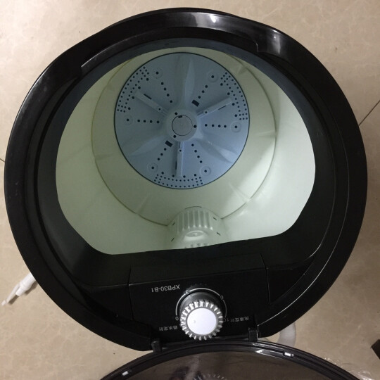 先科(SAST) XPB30-800D 半自动迷你洗衣机 小型单筒波轮洗衣机宝宝专用 XQB65-A6 绅士黑 安心童锁 三口之家优选 晒单图