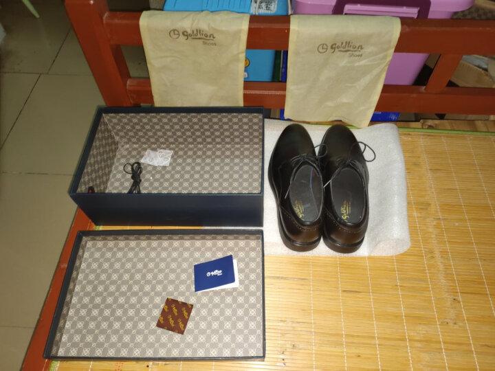 金利来(goldlion)男鞋商务休闲鞋简约系带舒适轻质皮鞋596740075EDA-红棕色-41码 晒单图
